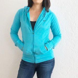 Nike Hooded Zip Front Fleece Sweatshirt Therma-Fit